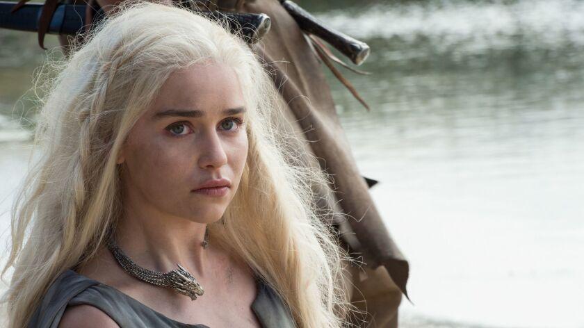 "Emilia Clarke in HBO's ""Game of Thrones"""