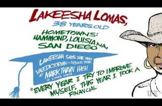 Street Art: Portraits of San Diego's Homeless - Lakeesha L.