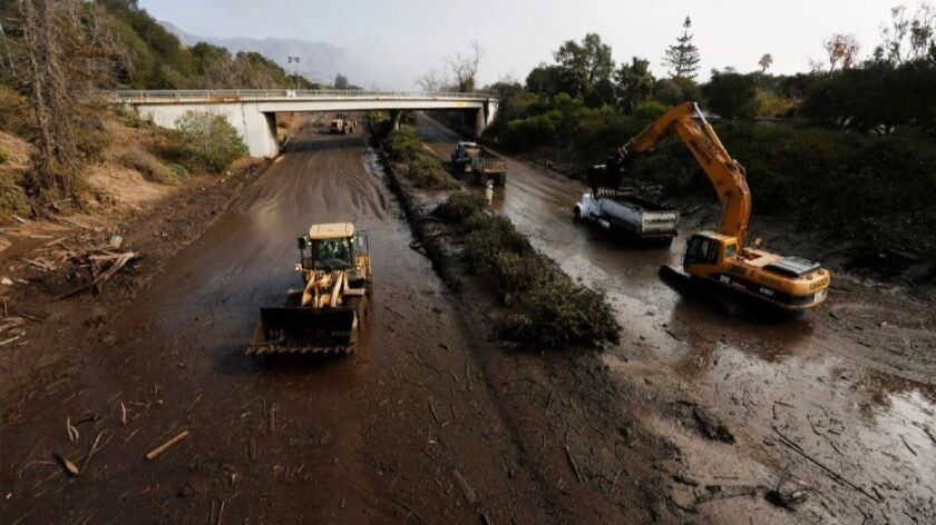 Highway 101 in Montecito was closed for several days by deadly mudslides, cutting off Santa Barbara and the San Ynez Valley from Los Angeles.