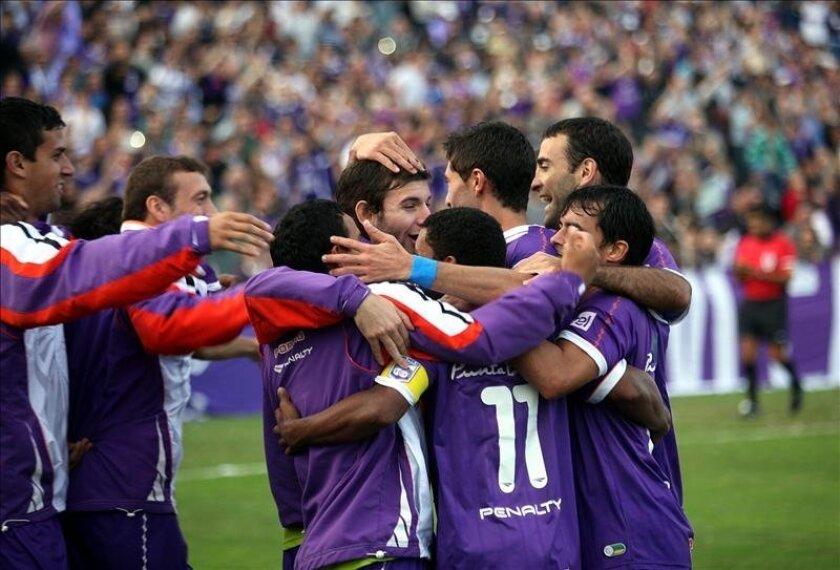 En la imagen, los jugadores del Defensor Sporting. EFE/Archivo