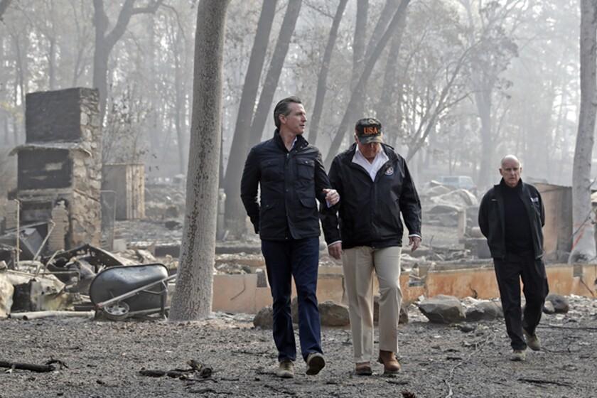 Donald Trump, Gavin Newsom, Jerry Brown