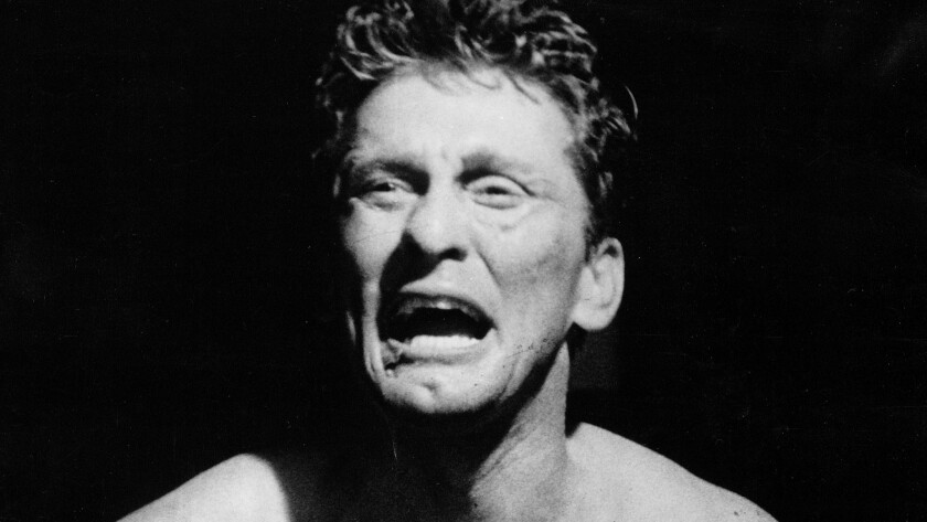 """Kirk Douglas in the 1949 movie """"Champion,"""" which made him a star and for which he earned his first Oscar nomination."""
