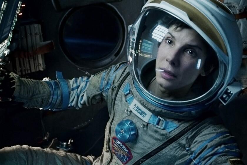 """Sandra Bullock in a scene from the film, """"Gravity."""""""