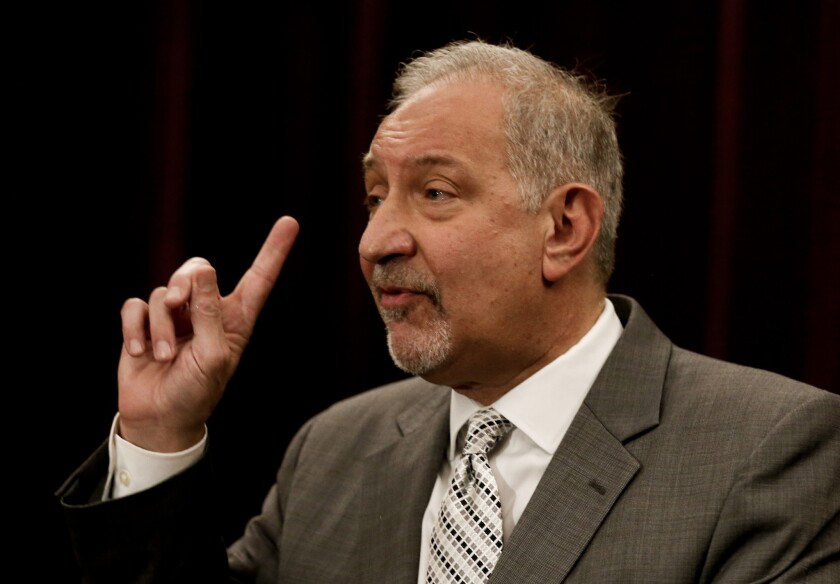 Attorneys Mark Geragos, above, and Ben Meiselas have repeatedly accused the district of retaliating against Esquith for filing a class-action lawsuit that alleges age discrimination and violations of due process and whistle-blower protections.