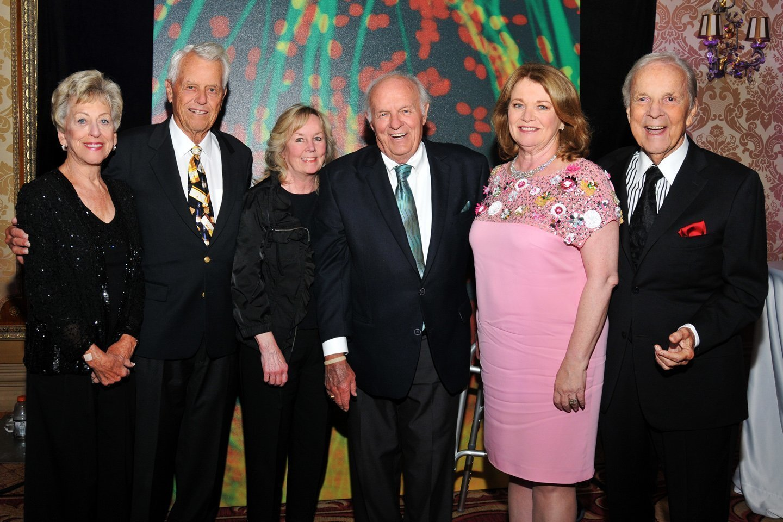 Roberta and Malin Burnham, Colleen Sanford, Denny Sanford, Debbie Turner and Conrad Prebys attend Sanford Burnham Prebys Medical Discovery Institute's annual gala Nov. 7, 2015 at The Grand Del Mar.