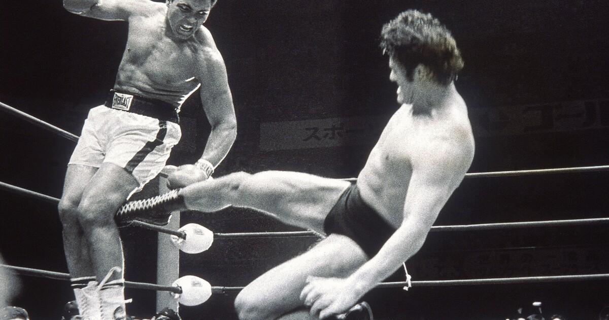 The Japanese pro wrestler who almost got Muhammad Ali's leg
