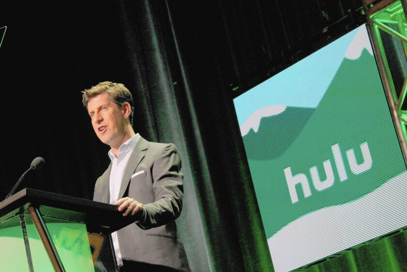 Craig Erwich, SVP and Head of Content at Hulu, speaks onstage at the Hulu 2015 Summer TCA presentation.