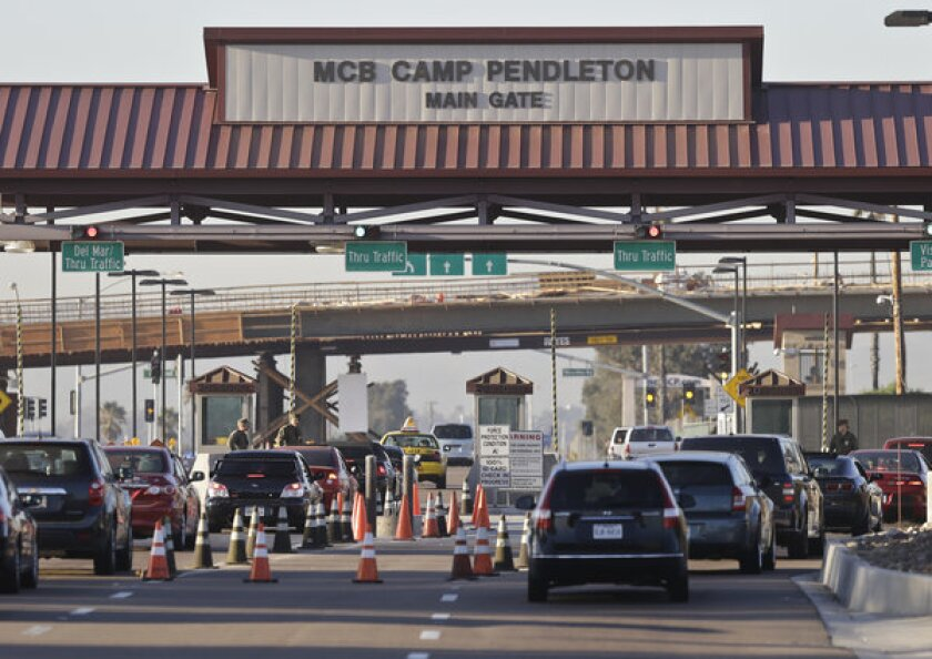 Marines killed at  Camp Pendleton
