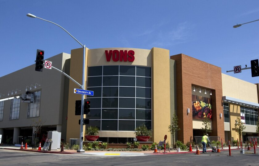 File photo: The Vons in Mission Hills reopened in March after a major expansion. The Safeway-owned chain has announced that it will end its double-coupon program, becoming the last of the major supermarket chains to do so in San Diego County.