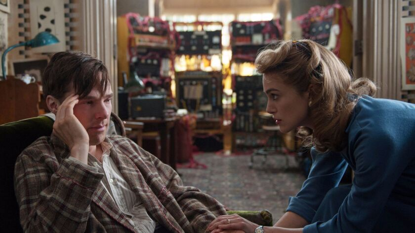 """Benedict Cumberbatch and Keira Knightley star in """"The Imitation Game."""""""