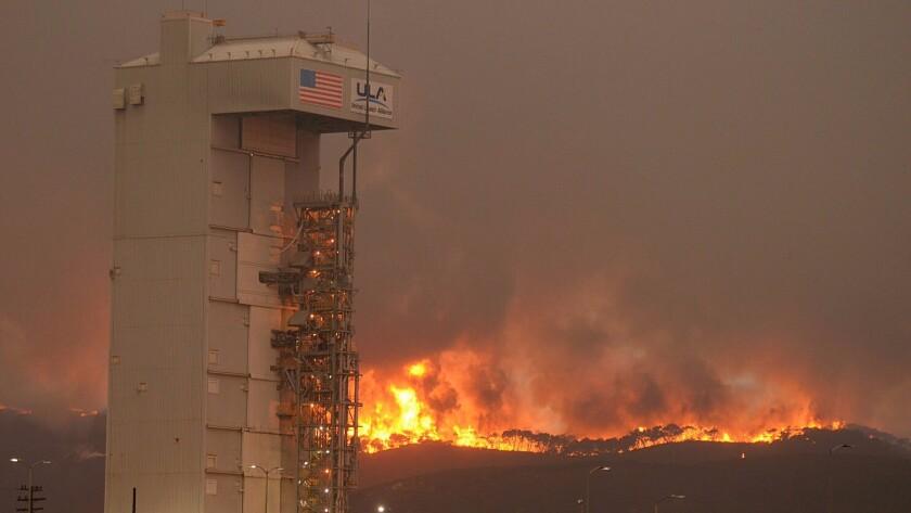 Vandenberg Air Force Base fire