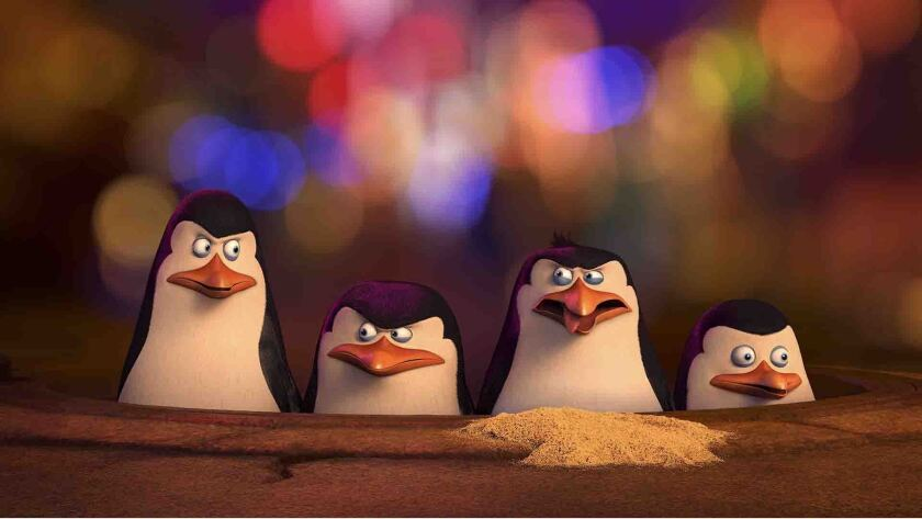 "DreamWorks' most recent release is ""Penguins of Madagascar."""