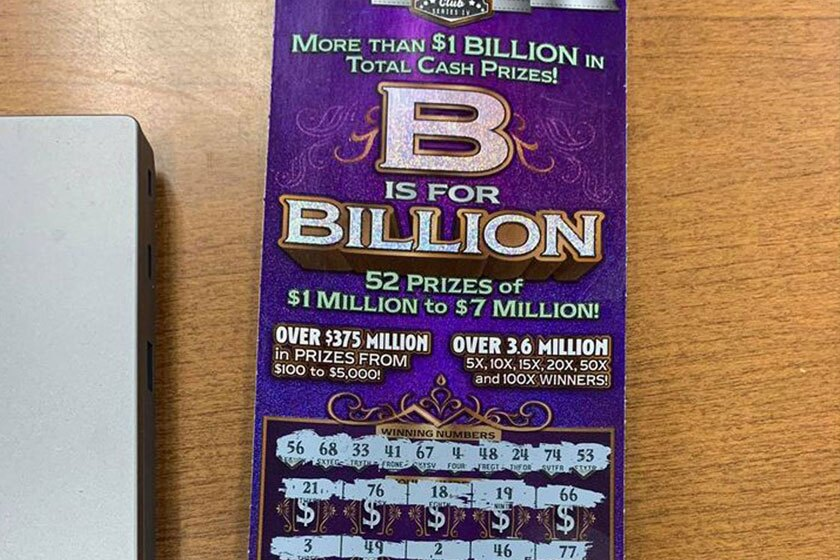 A lottery ticket worth $100 was left behind by a fleeing suspect, according to the Cherokee County, Ga., Sheriff's Office.
