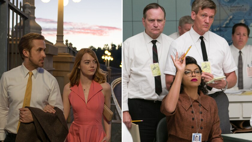 """La La Land,"" left, and ""Hidden Figures"""