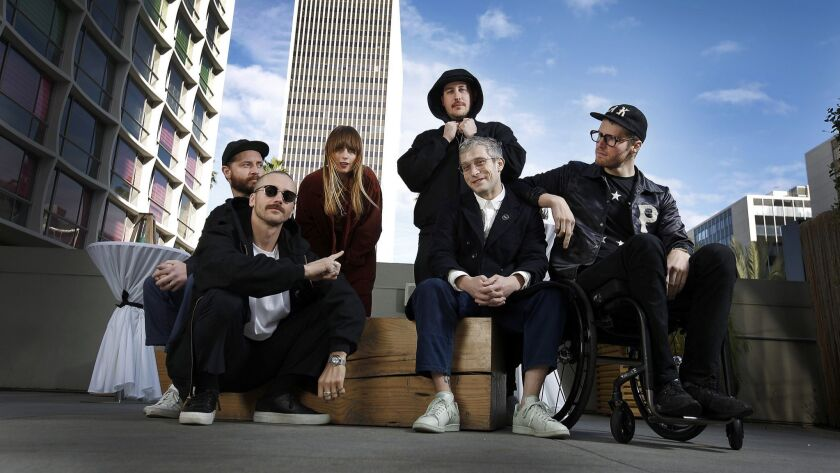 Portugal. The Man's Jason Sechrist, from left, John Gourley, Zoe Manville, Zach Carothers, Kyle O'Quin and Eric Howk.