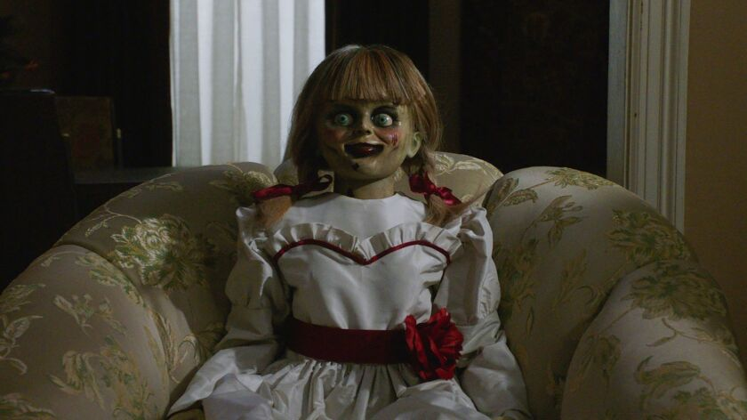"This image released by Warner Bros. Pictures shows a scene from the horror film, ""Annabelle Comes Ho"