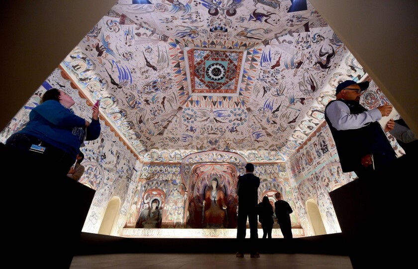 The Getty Center exhibition's re-creation of Cave 285.