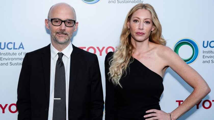Moby and Julie Mintz attend the UCLA Institute of the Environment and Sustainability's annual gala in Beverly Hills.