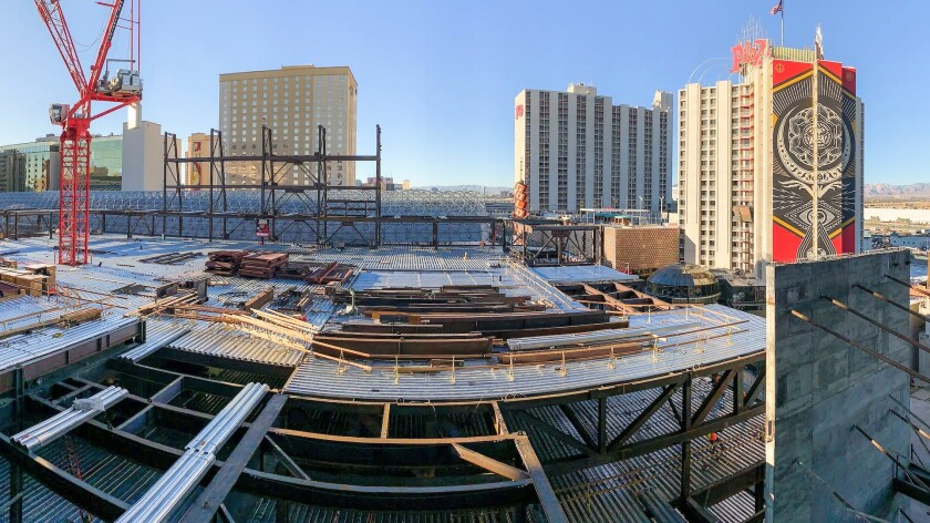 Circa under construction in Las Vegas