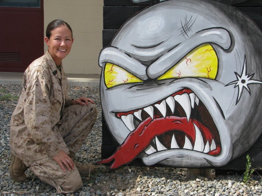 USMC 1st Sgt. Christina Grantham at Camp Pendleton.