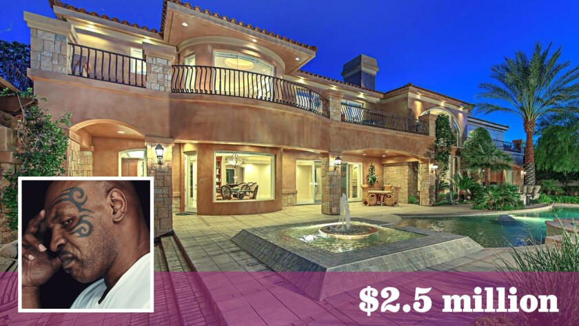Former heavyweight boxing champion Mike Tyson has bought an Italian-style mansion in Henderson, Nev., for $2.5 million.