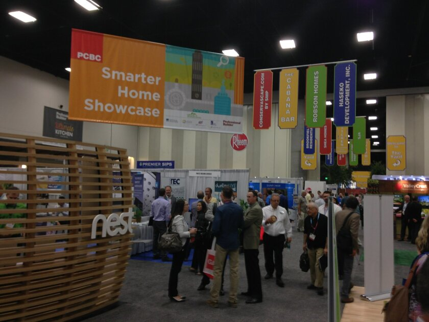 A special area of the PCBC exhibitor floor at the San Diego Convention Center is devoted to smart-home technology.