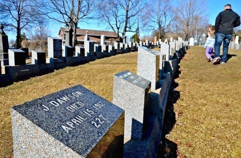 """The J. Dawson at Halifax's Fairview Lawn Cemetry is not Jack (Leonardo DiCaprio's """"Titanic"""" character is fictional) but Titanic boiler-room worker Joseph."""
