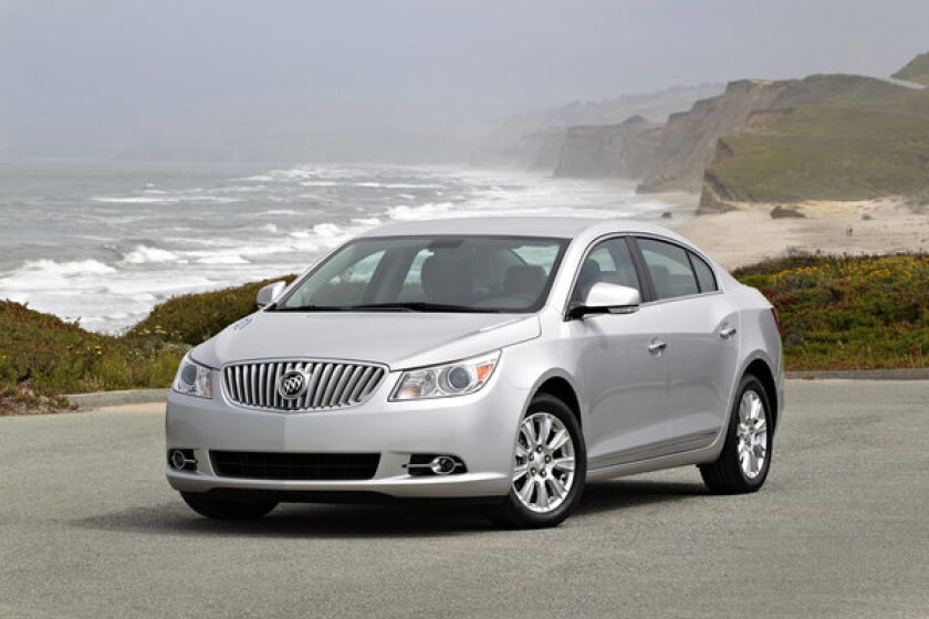 General Motors is recalling more than 38,000 Buick LaCrosse models, seen here, as well as Chevrolet Malibu Eco and Buick Regal eAssist sedans. A faulty circuit board in the trunk can potentially lead to fire.