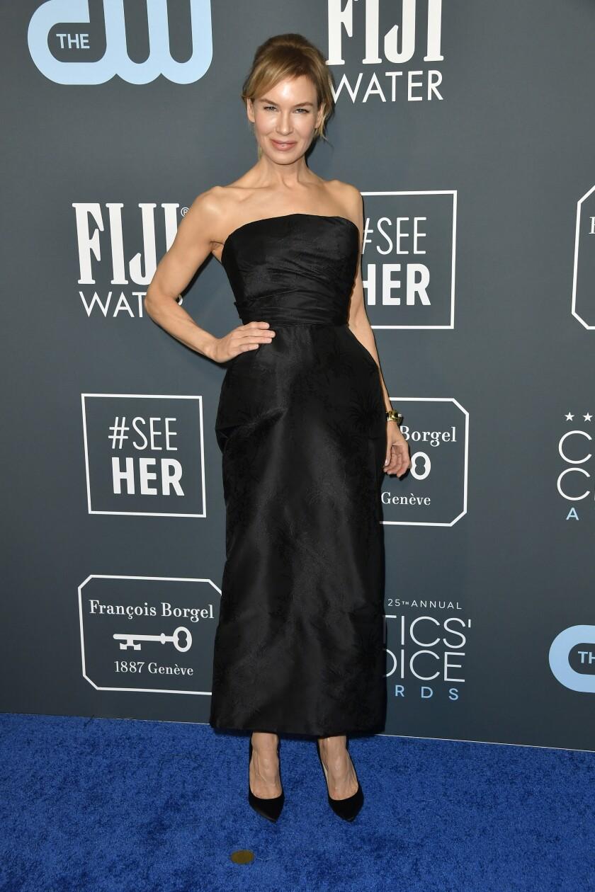 Renée Zellweger attends Critics' Choice Awards