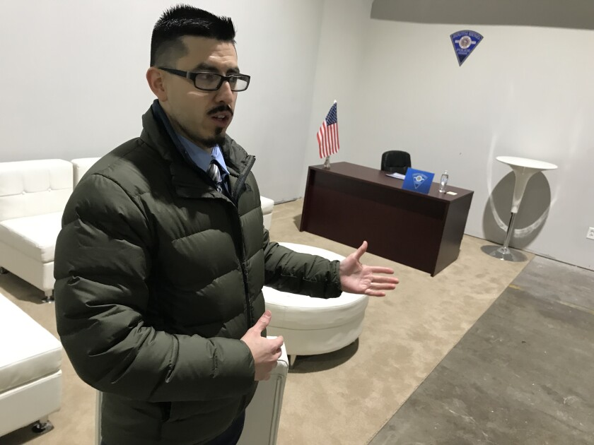 Paul Beltran, 33, a healthcare case manager who emigrated from Ecuador.