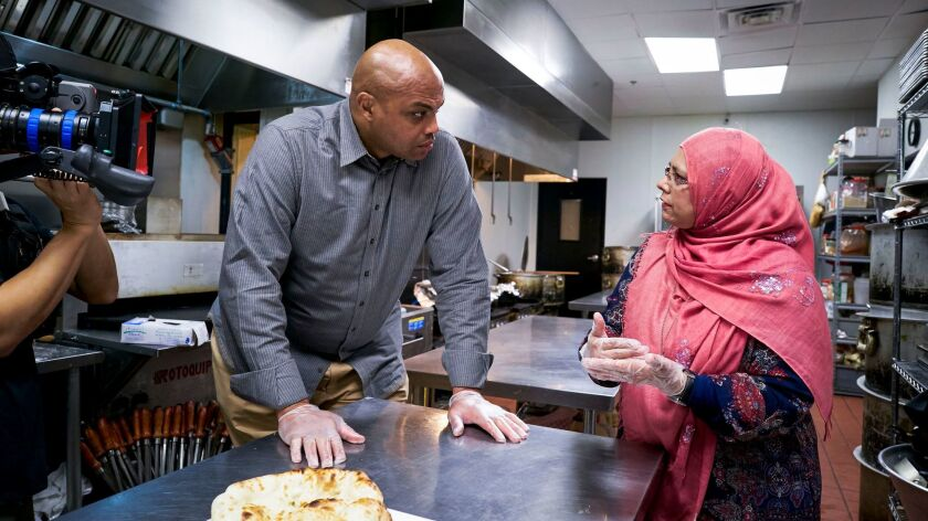 """Charles Barkley, left, in a scene from """"American Race."""""""