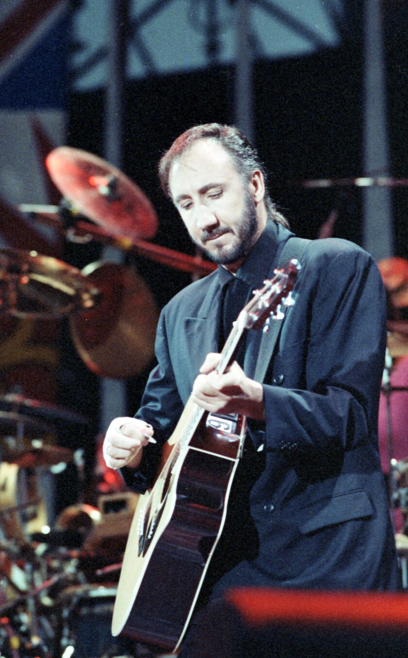 Pete Townshend of The Who on stage