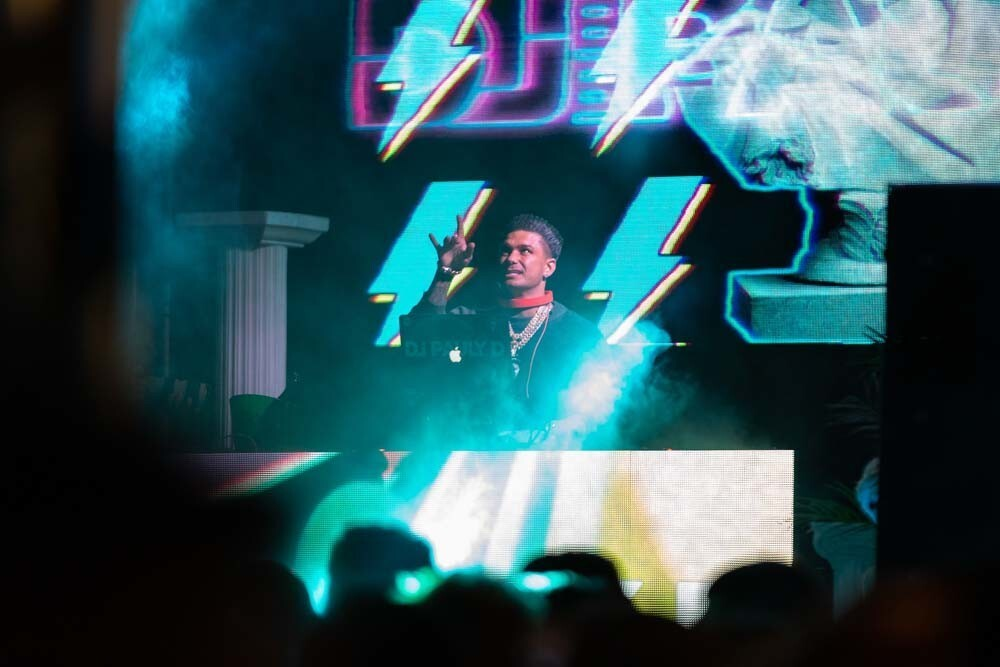 DJ Pauly D and Kid Ink dropped the beats while waiting for the ball to drop on New Year's Eve at the Hard Rock Hotel San Diego's bash on Dec. 31, 2018.
