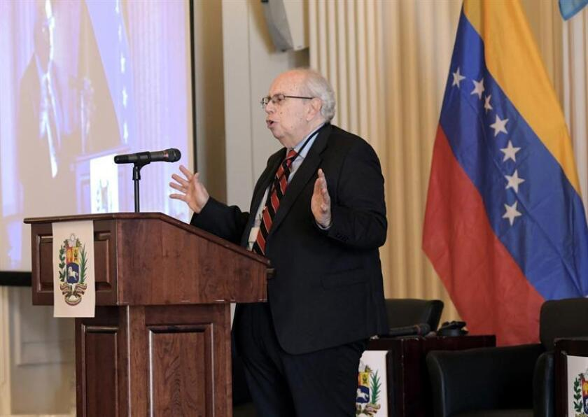 El representante especial de Venezuela ante la Organización de Estados Americanos (OEA), Gustavo Tarre. EFE/Archivo