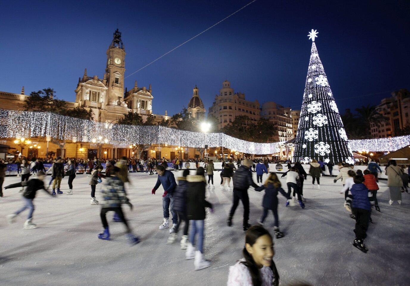 Ice rink in Valencia, Spain