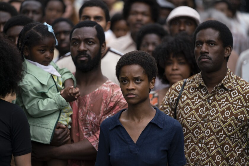 """Letitia Wright in """"Mangrove"""" part of the """"Small Axe"""" series directed by Steve McQueen."""