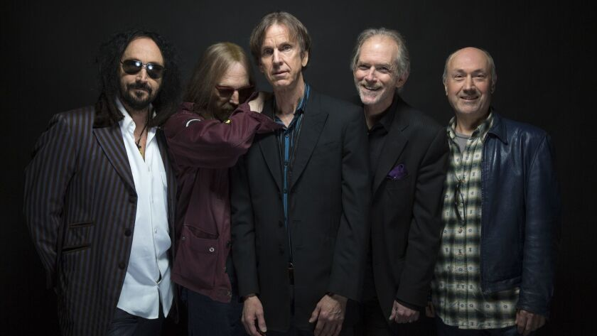 BURBANK, CALIF. -- THURSDAY, APRIL 7, 2016: Mudcrutch, left to right, Mike Campbell, Tom Petty, Tom