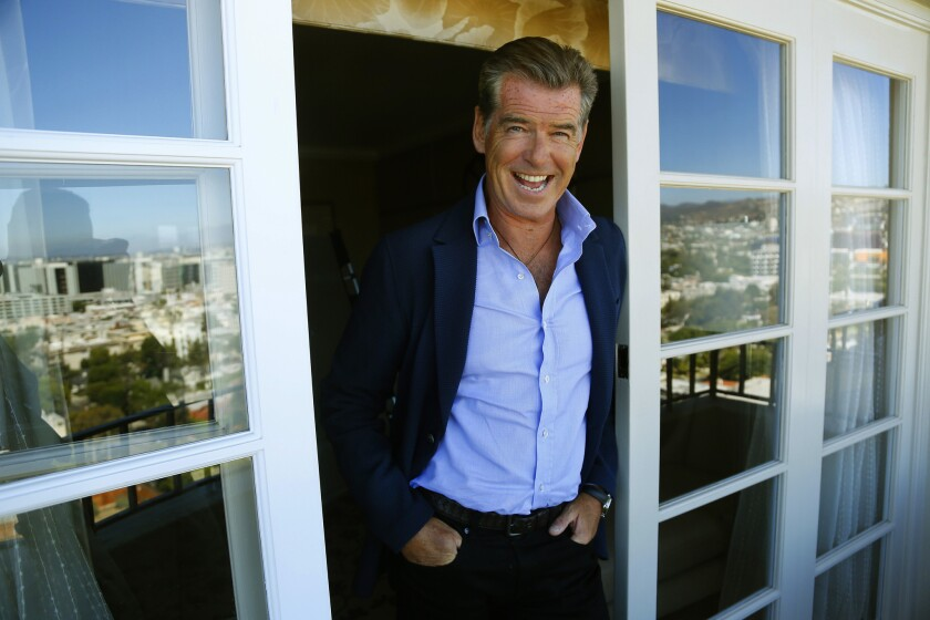 Pierce Brosnan at the Four Seasons Hotel in Los Angeles on Aug. 15, 2014.
