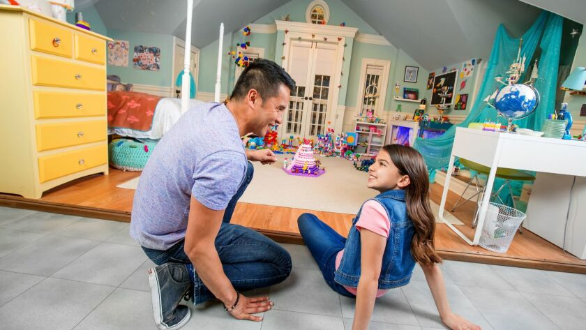 The Lego Movie 2 Experience at Legoland features sets like this one used in the live-action shots of the new movie. In Bianca's room, visitors can see all the Lego models she built to create the iconic Systar System and Queen Watevra Wa'nabi's castle.