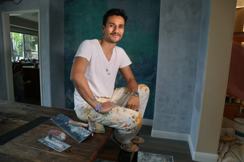 Artist Dionisio Ceballos has changed his career focus, now creating murals and wall finishes for homes.
