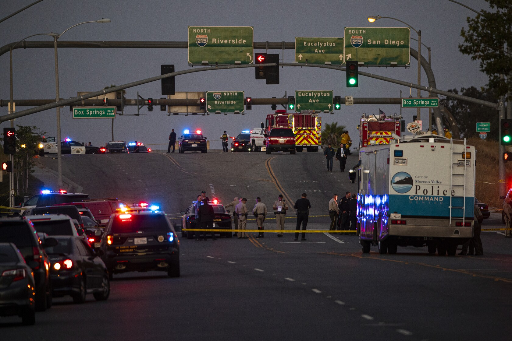 Riverside shooting: CHP officer and gunman killed near 215