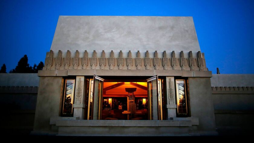 Hollyhock House, designed by Frank Lloyd Wright for oil heiress Aline Barnsdall.