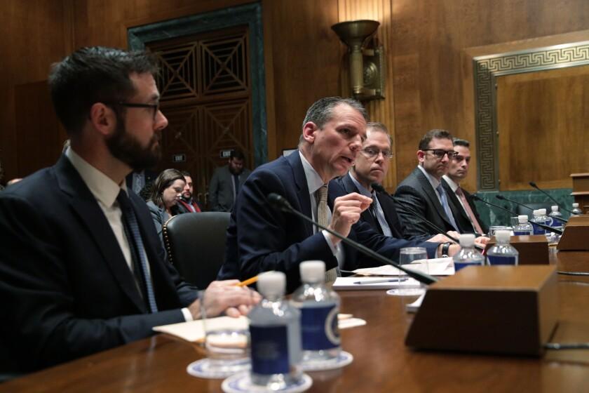 Alastair Mactaggart testifies on privacy legislation before a Senate panel.