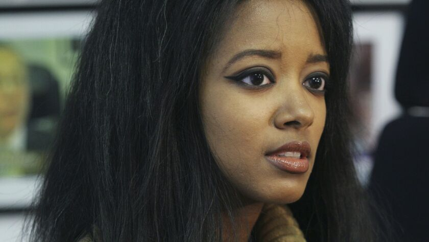FILE - In this Sept. 22, 2006, file photo, former Playboy playmate Stephanie Adams speaks at an inte