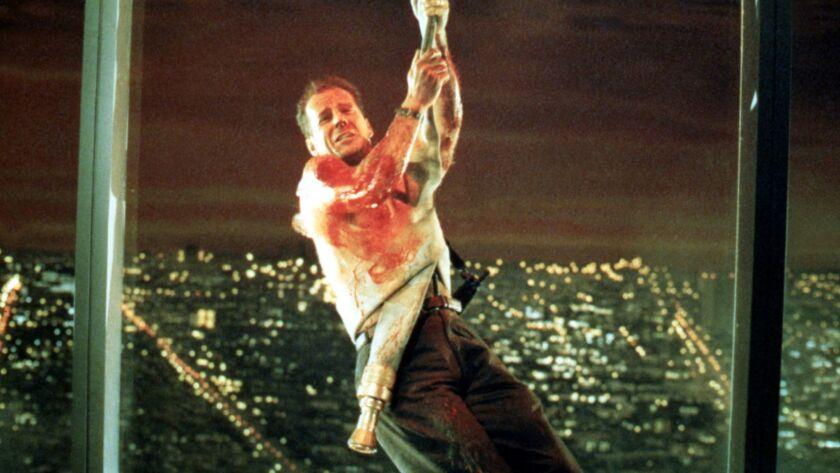 "Bruce Willis in the 1988 movie ""Die Hard."""