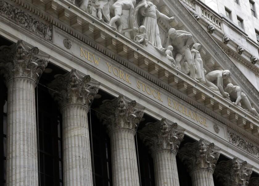 The New York Stock Exchange buildling.