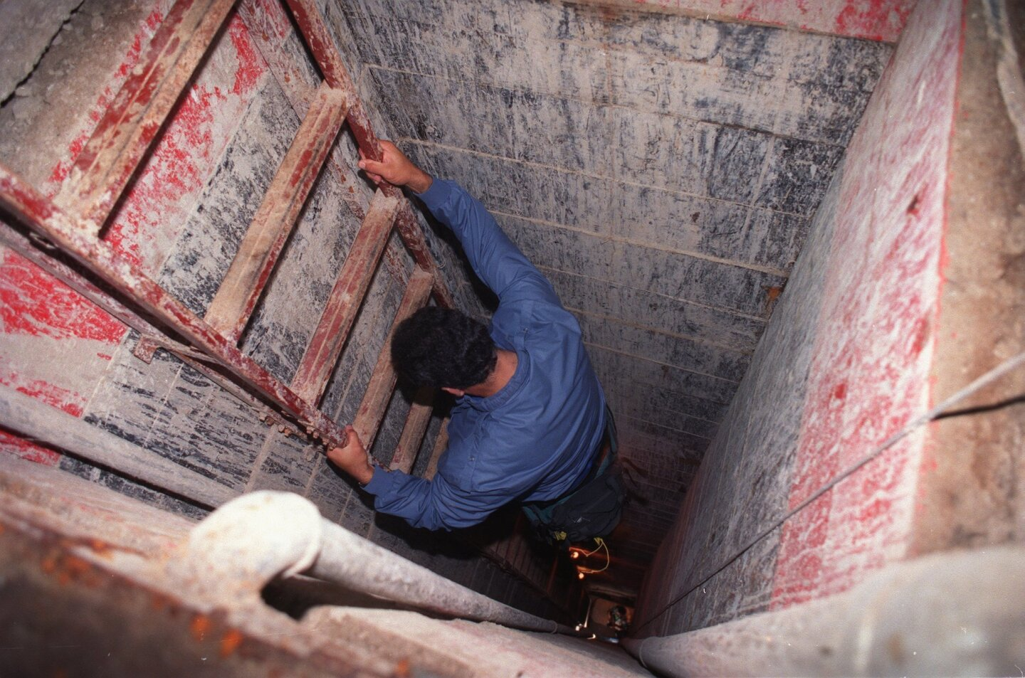 In May 1993 Mexican federal authorities discovered the frist sophisticated tunnel being built to smuggle drugs into the U.S. at San Diego. The tunnel stretched 1,452 feet after plunging 65 feet underground. It was estimated to cost as much as $2 million to build, and included electrical power and air conditioning. The tunnel stopped 120 feet short of an Otay Mesa warehouse at on Siempre Viva Road. It was believed to have been built by a group headed by suspected drug trafficker Joaquin Guzman Loera. (John McCutchen/U-T)