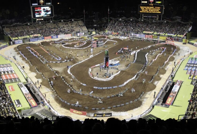 Supercross Dodger Stadium Motorcyle