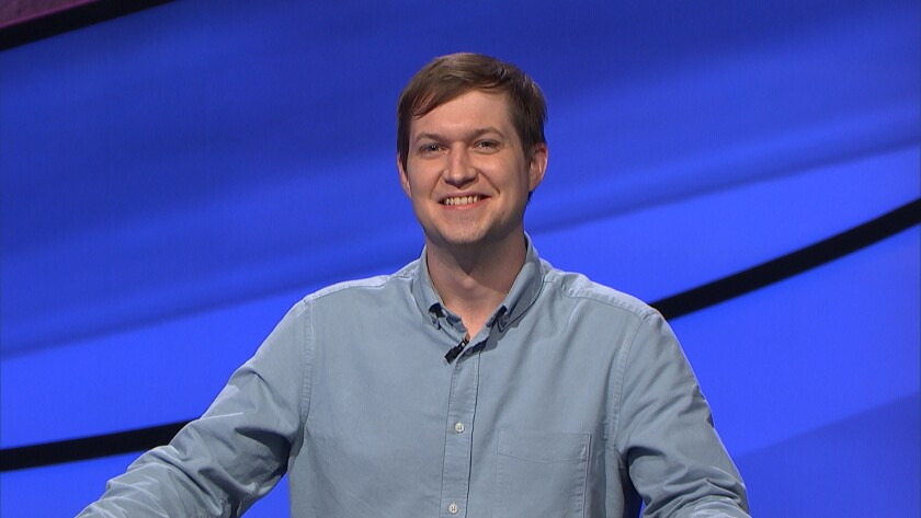"""La Jolla resident and UC San Diego Ph.D. student Andrew Kleinschmidt competes on """"Jeopardy!"""""""