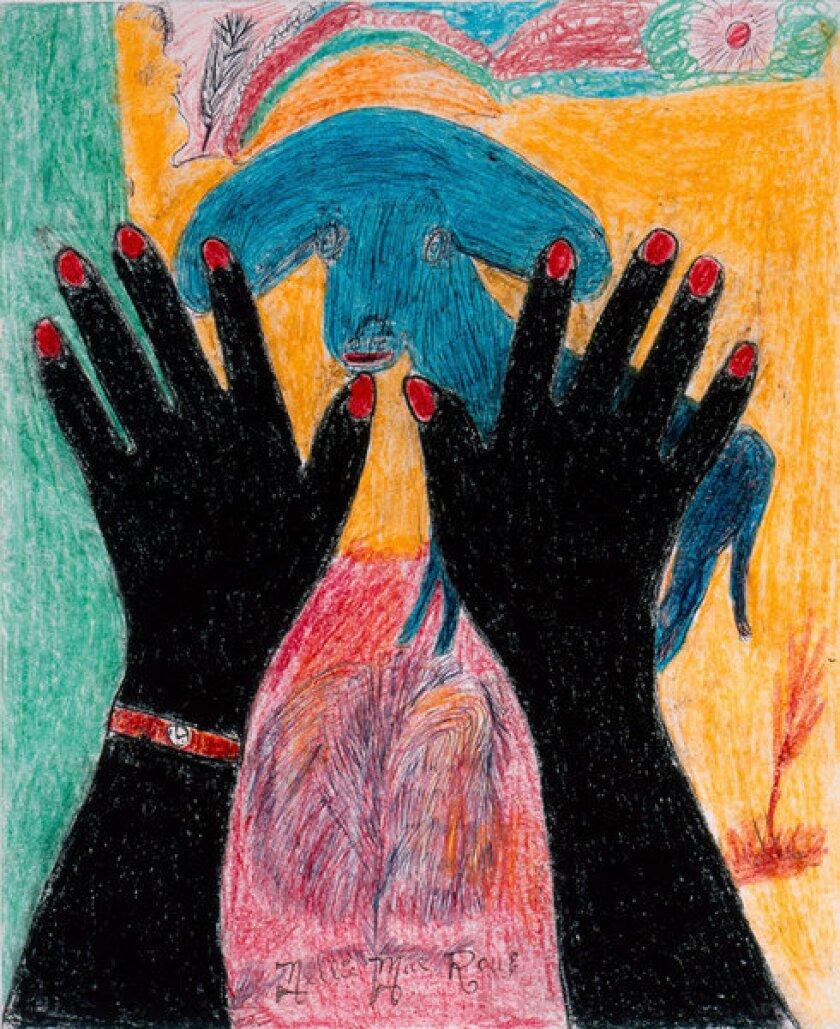 """Nellie Mae Rowe, """"Peace,"""" 1978"""